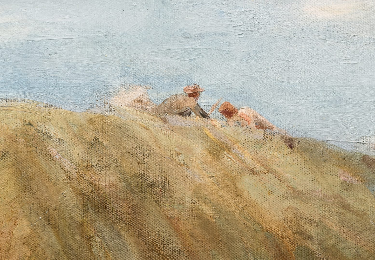 Lot 138: Paulina Komolova, O/C, Stacking Hay