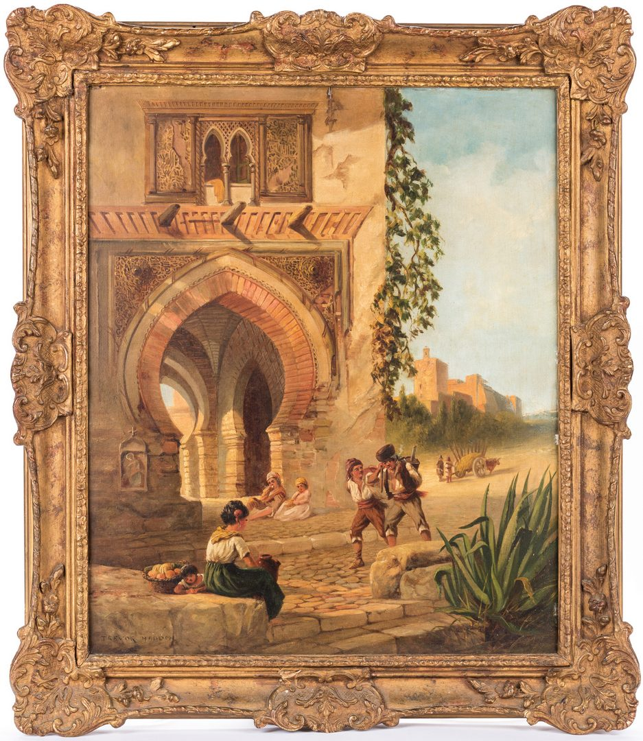 "Lot 140: Arthur Trevor Haddon, O/B, ""The Wine Tower"""