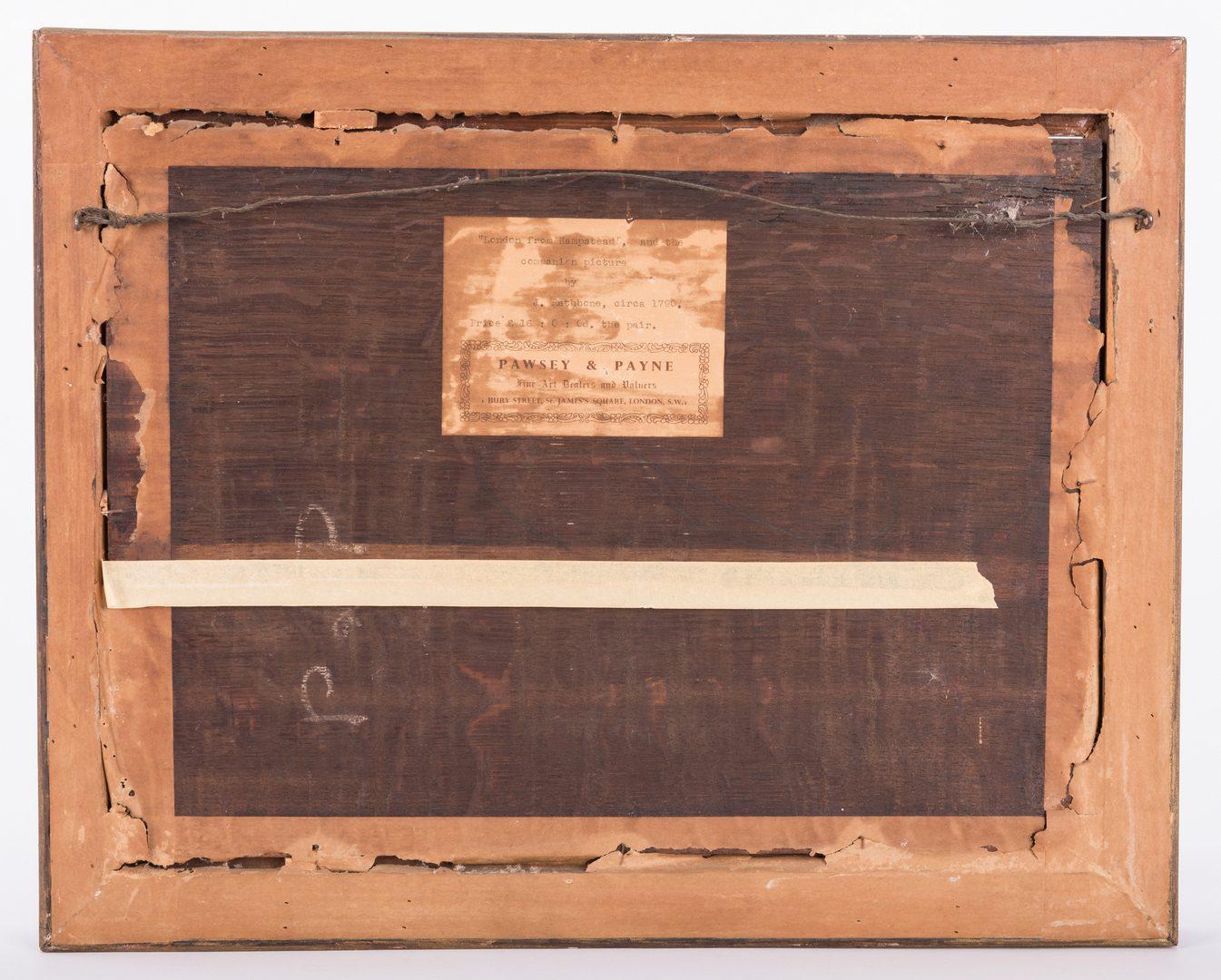 "Lot 141: John Rathbone, O/B, ""London from Hampstead"""