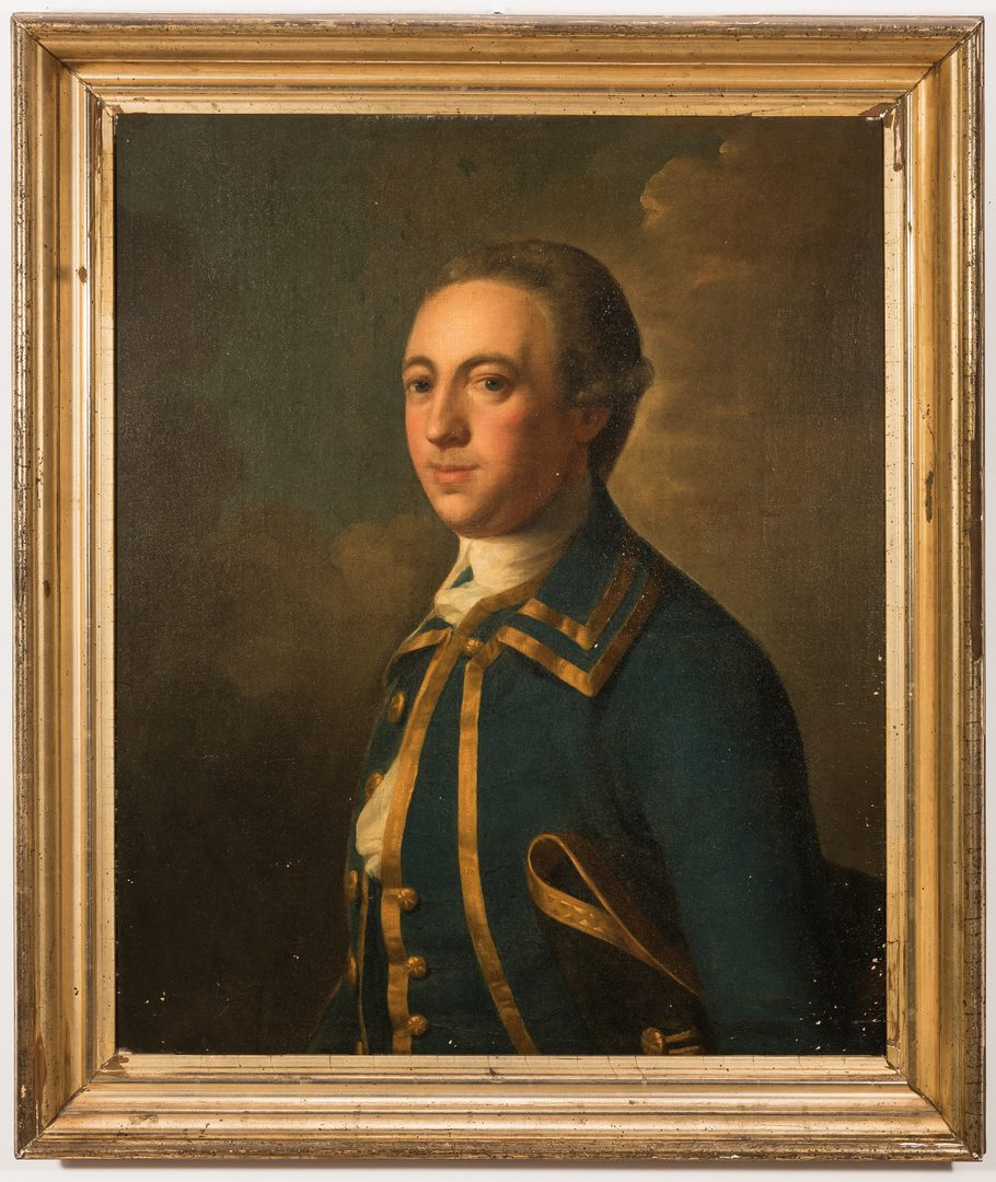 Lot 143: 18th c. Portrait of an English Gentleman