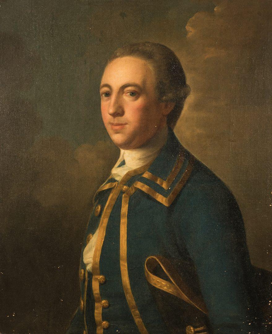Lot 143: 18th c. Portrait of an English Gentleman