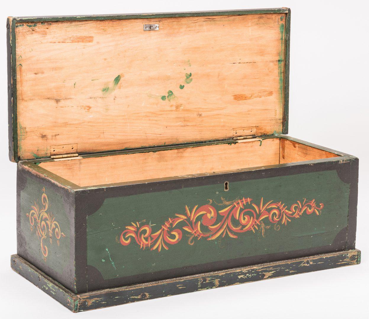 Lot 144: Folk Art Painted Box