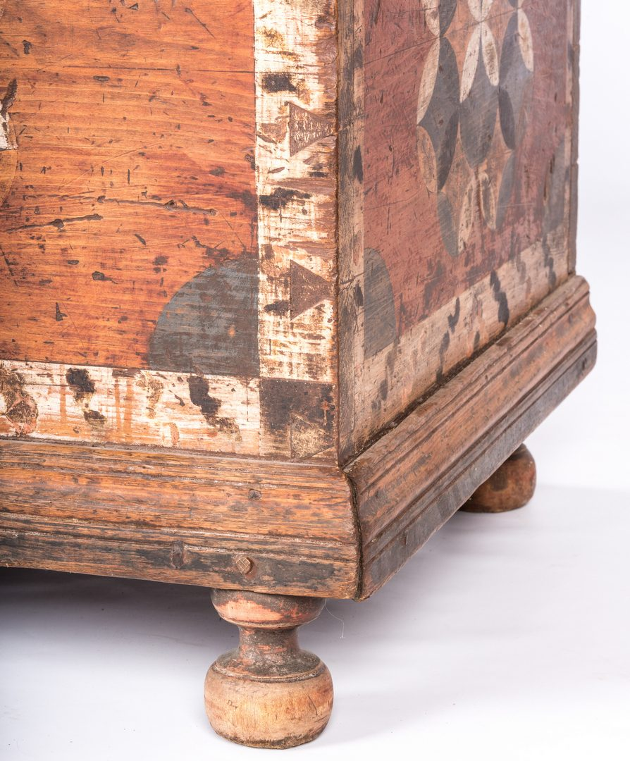 Lot 150: Painted PA Blanket Chest, late 18th c.