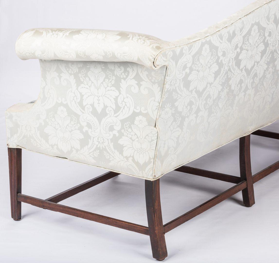 Lot 153: Chippendale Mahogany  Camel Back Sofa