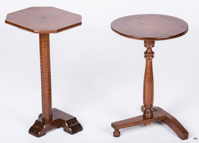 Lot 155: 2 Pilgrim Century T-Base Candlestands