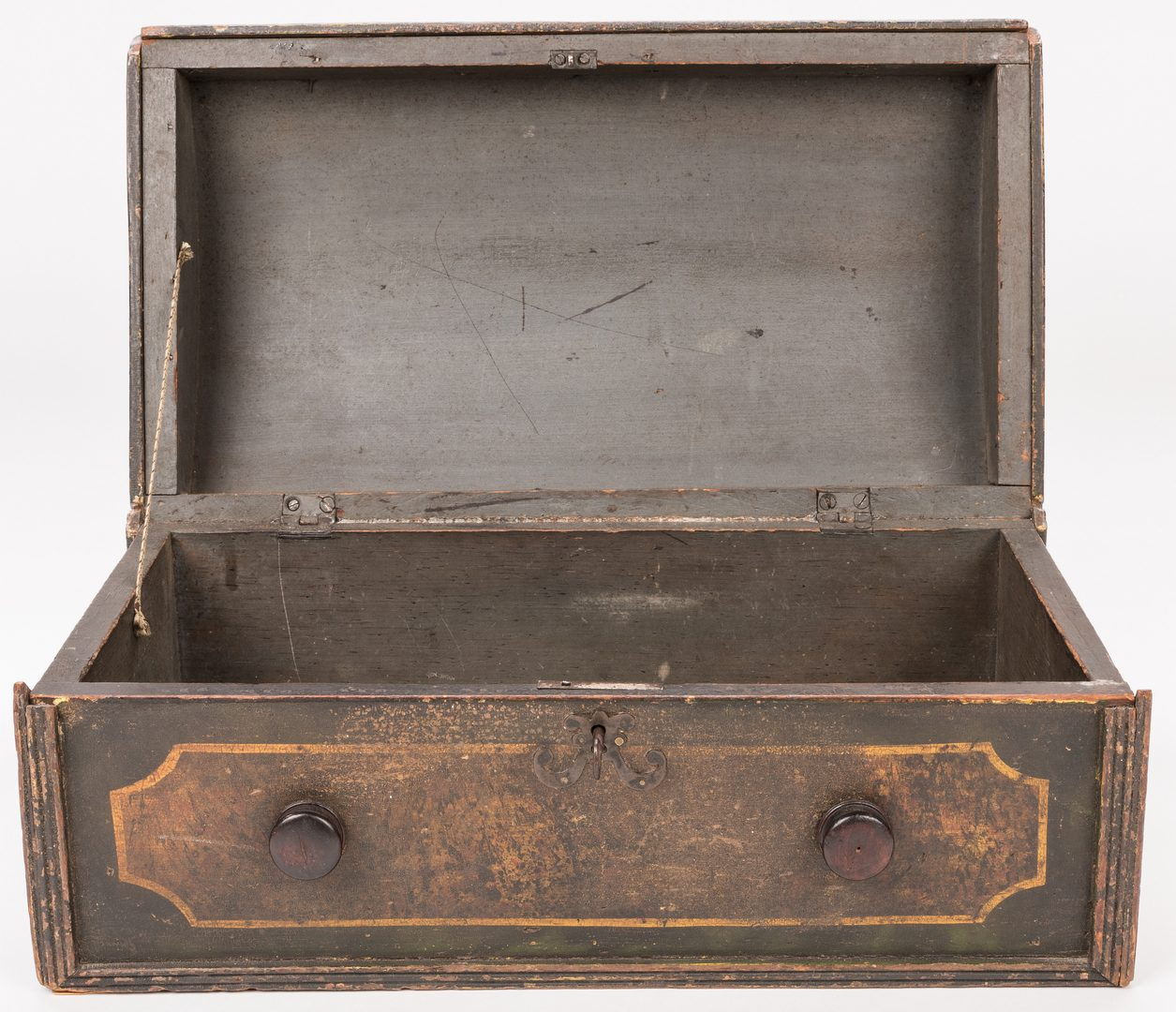 Lot 158: New England Paint Decorated Dome Box