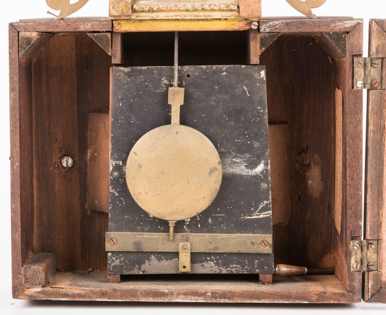 Lot 159: Banjo Clock w/ Mass. State House Reverse Painting