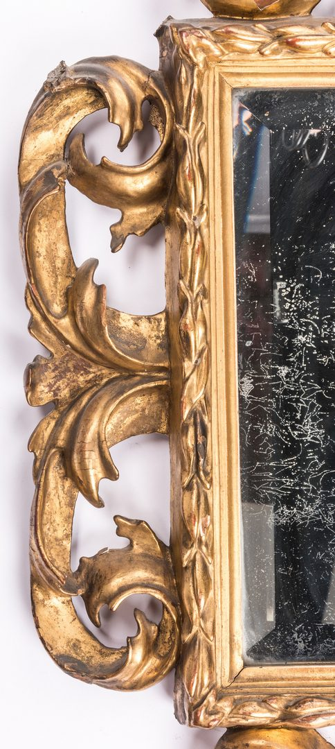 Lot 162: 19th Cent. Continental Gilt Carved Mirror