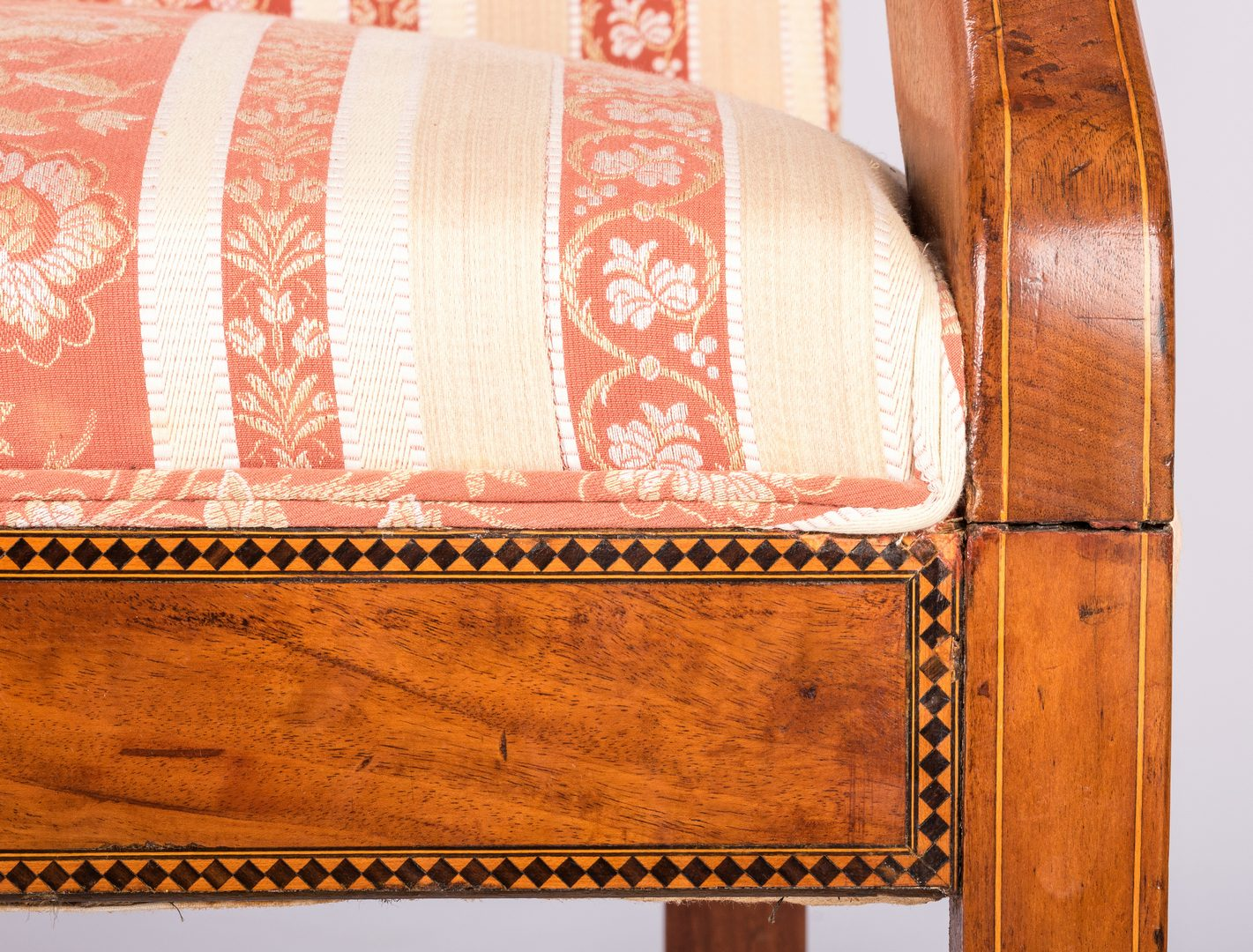 Lot 165: Inlaid Neoclassical Settee