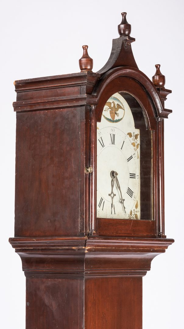 Lot 166: American Federal Tall Case Clock, possibly Southern