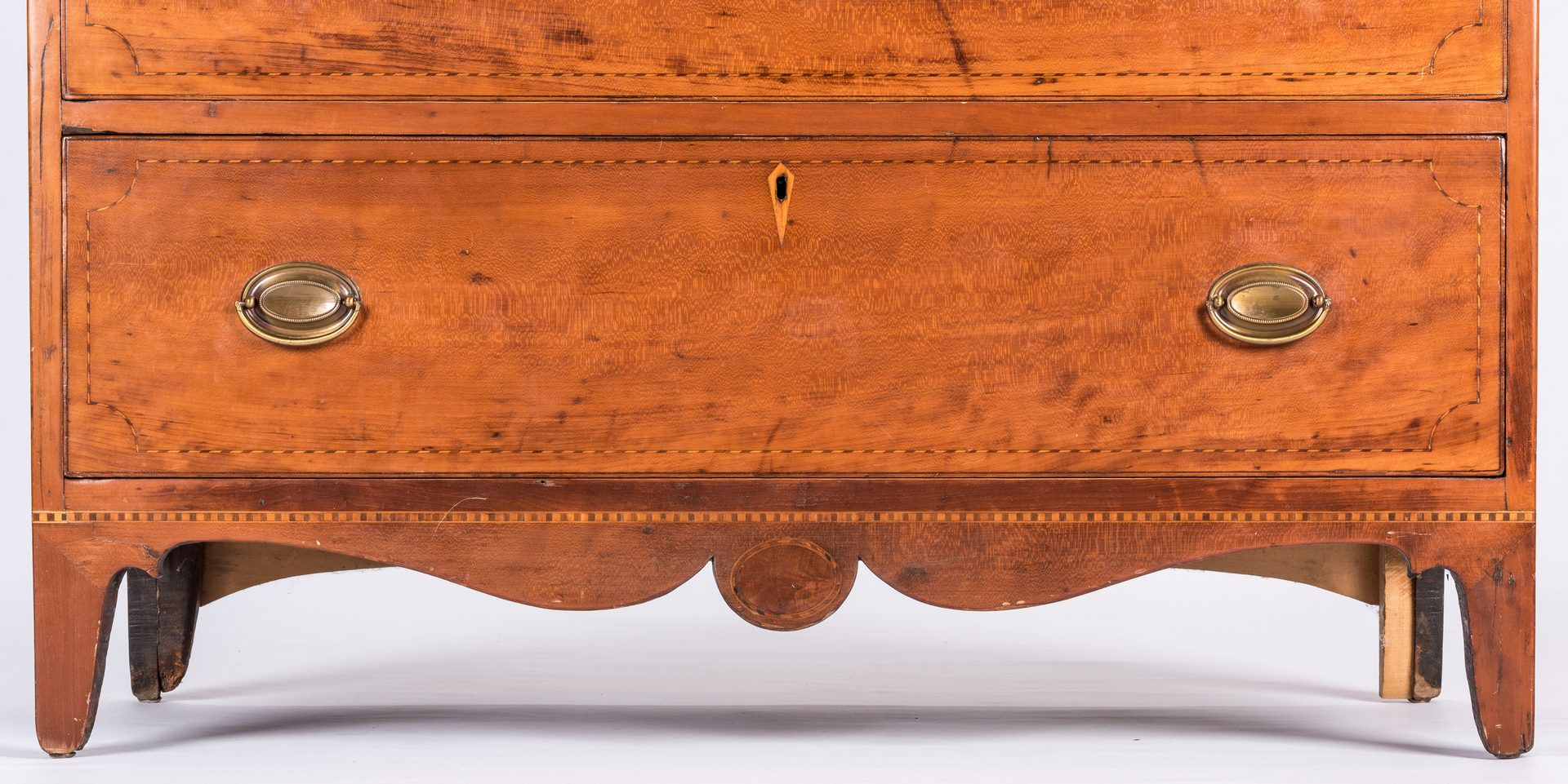 Lot 168: KY Inlaid Federal Chest, attr. Porter Clay