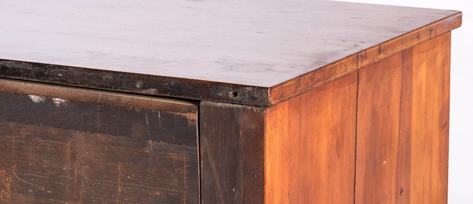 Lot 169: KY Cherry Chest of Drawers w/Vine Inlay