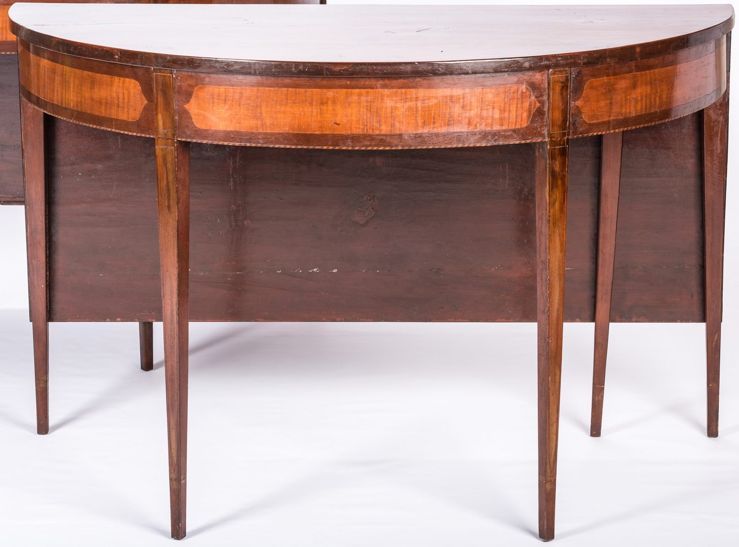 Lot 171: Southern Hepplewhite Inlaid Dining Table, attrib. KY