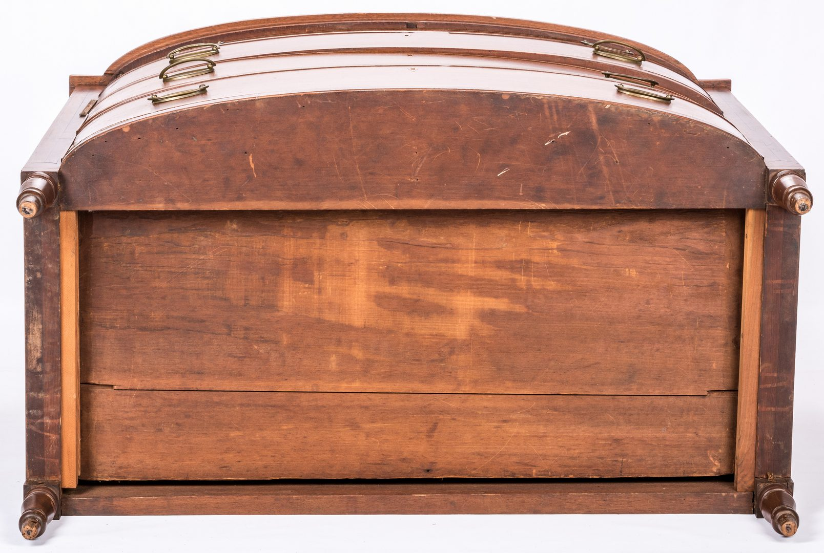 Lot 178: Southern Inlaid Sheraton Bowfront Chest