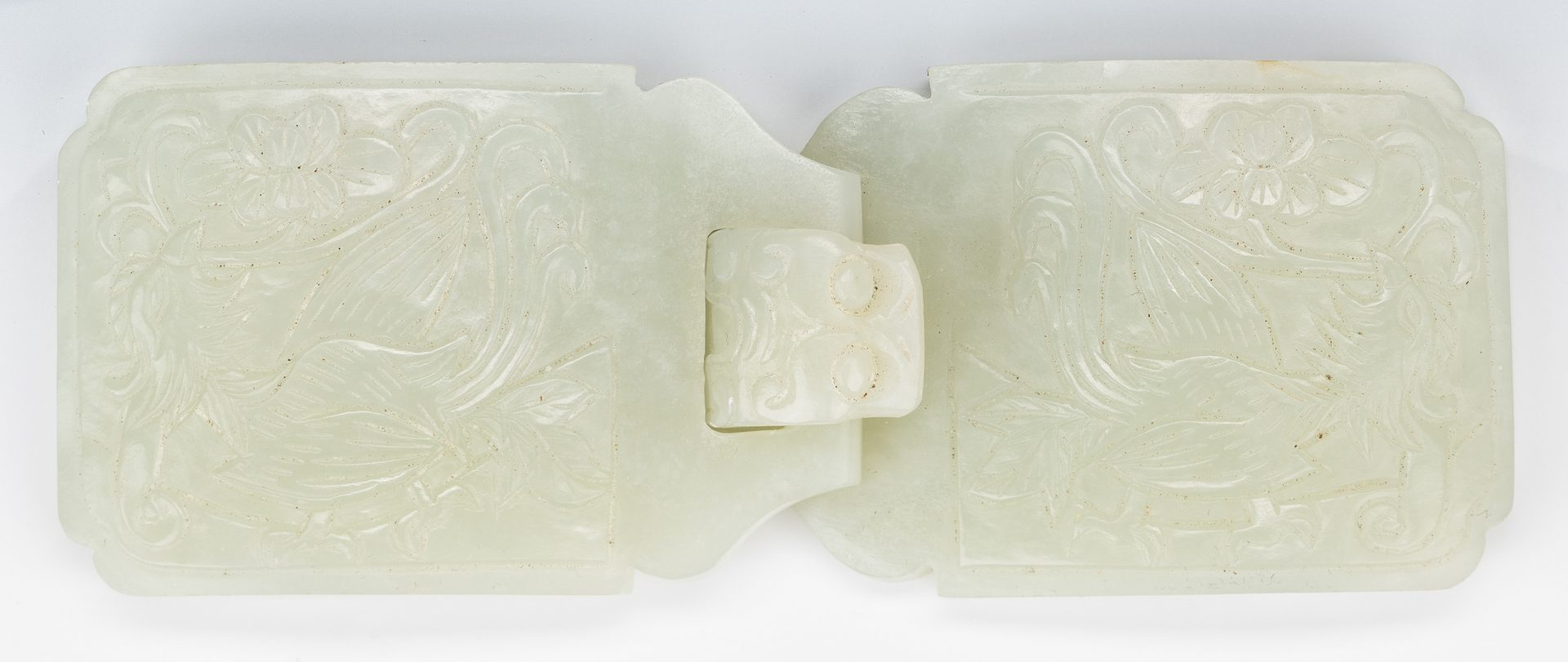 Lot 17: Chinese Carved Jade Double Belt Buckle