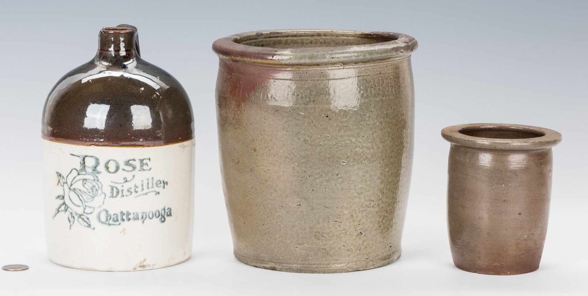 Lot 186: 3 East TN Pottery Items, inc. Harmon