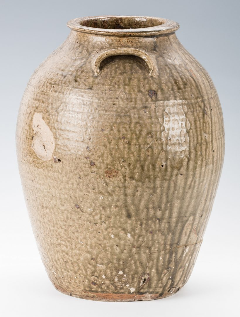 Lot 187: Southern Alkaline Glazed Jar, Signed and Dated