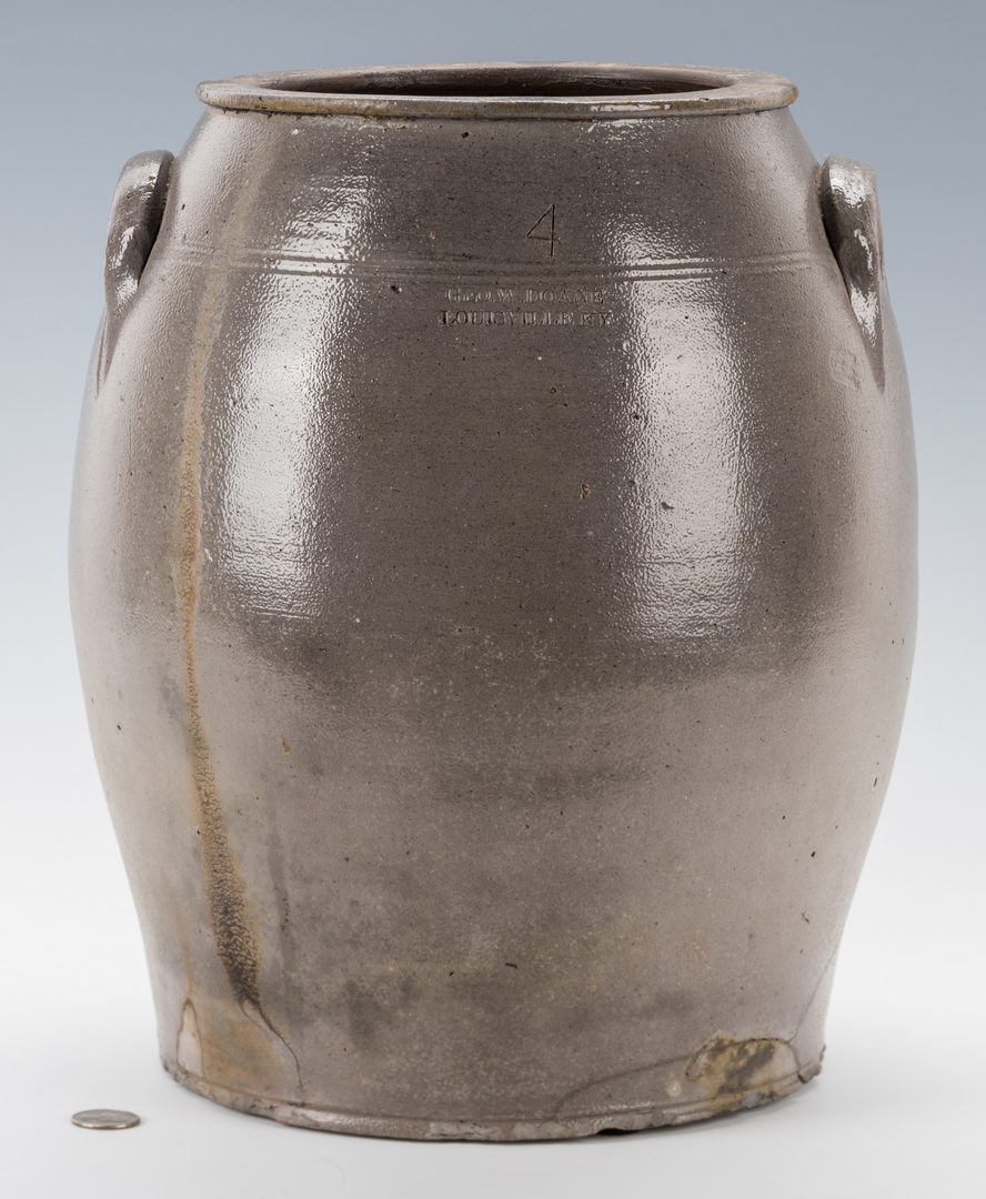Lot 190: KY 4 Gal. Pottery Jar, George W. Doane