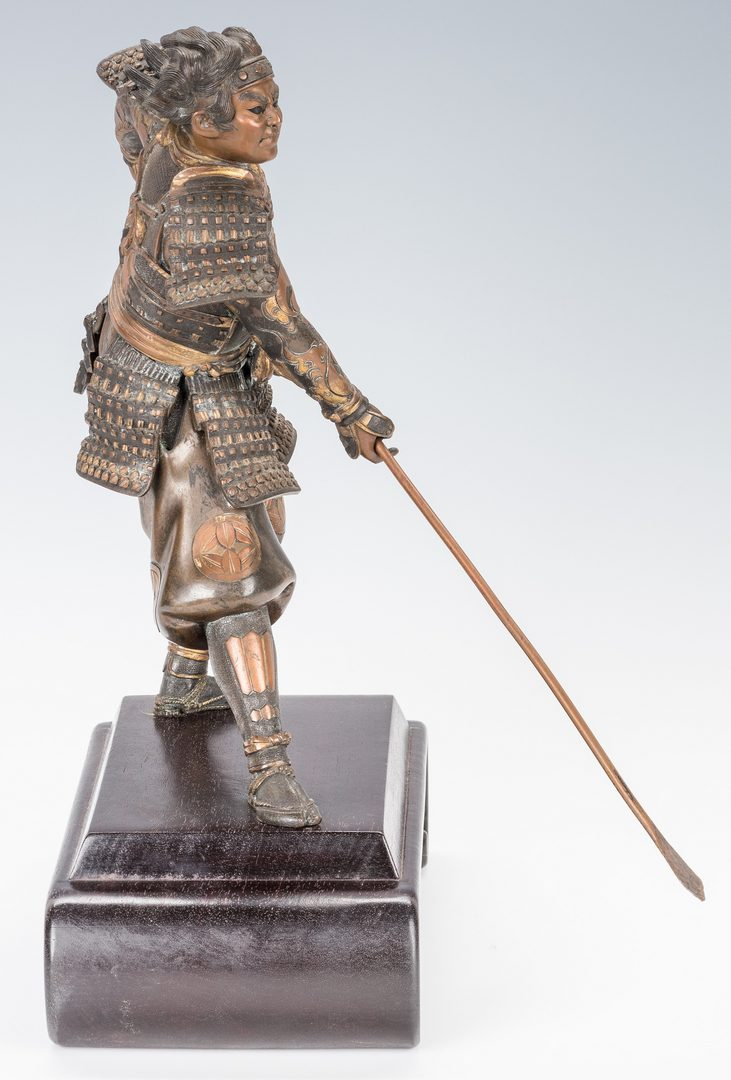Lot 19: Meiji Bronze Warrior Figure