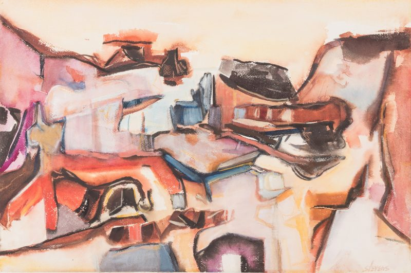 Lot 200: Walter Hollis Stevens TN Abstract Watercolor