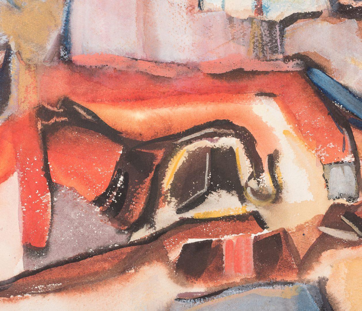 Lot 200: Walter Hollis Stevens TN Abstract Watercolor