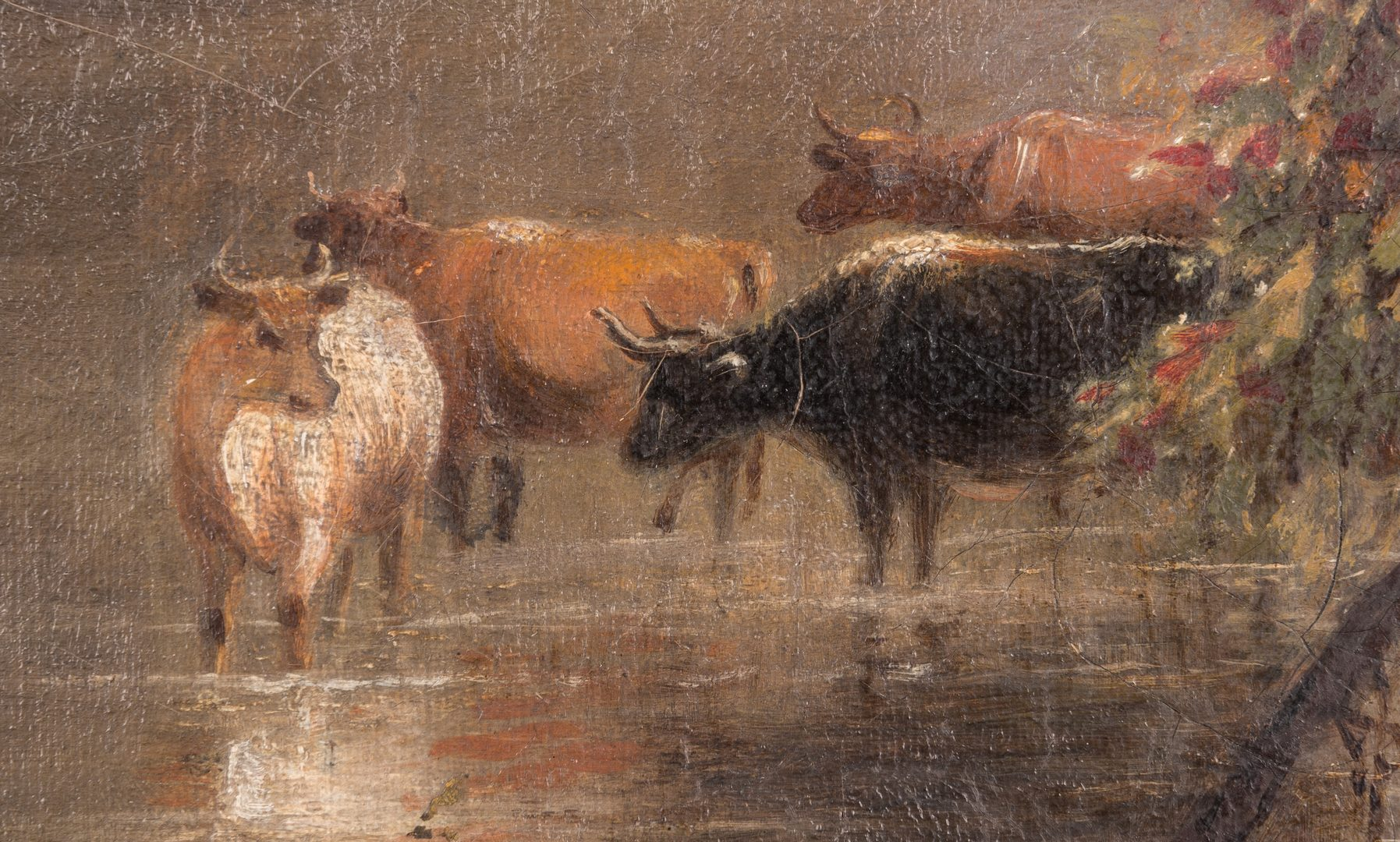 Lot 202: William R. Tyler O/C Landscape with Cows