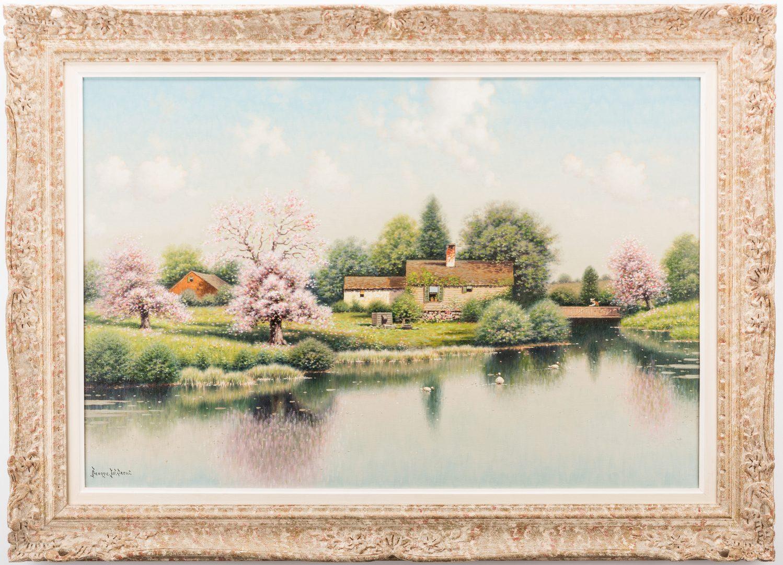 Lot 203: George W. Drew Oil Landscape