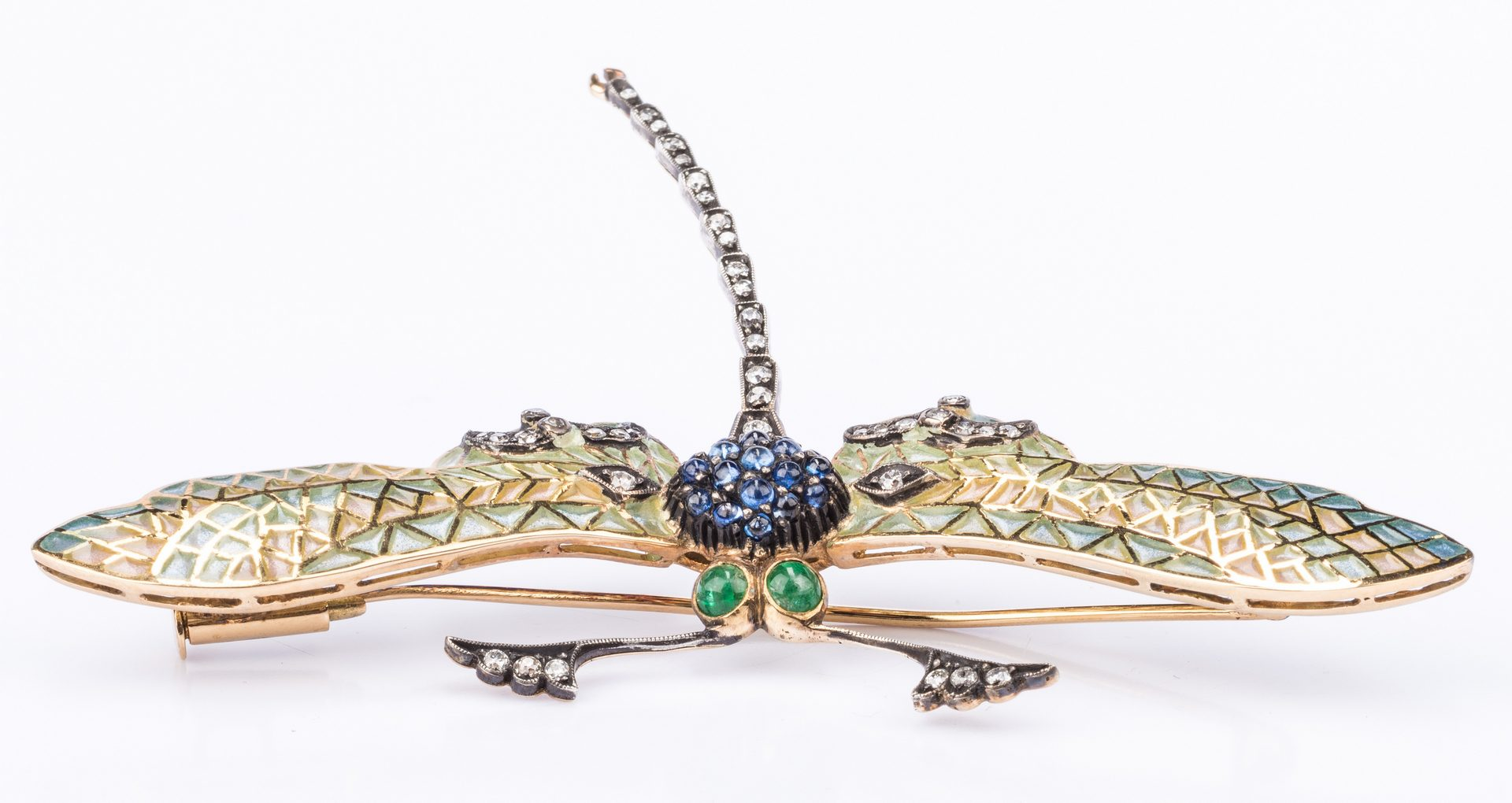 Lot 207: Jeweled Dragonfly Pin with Enamel