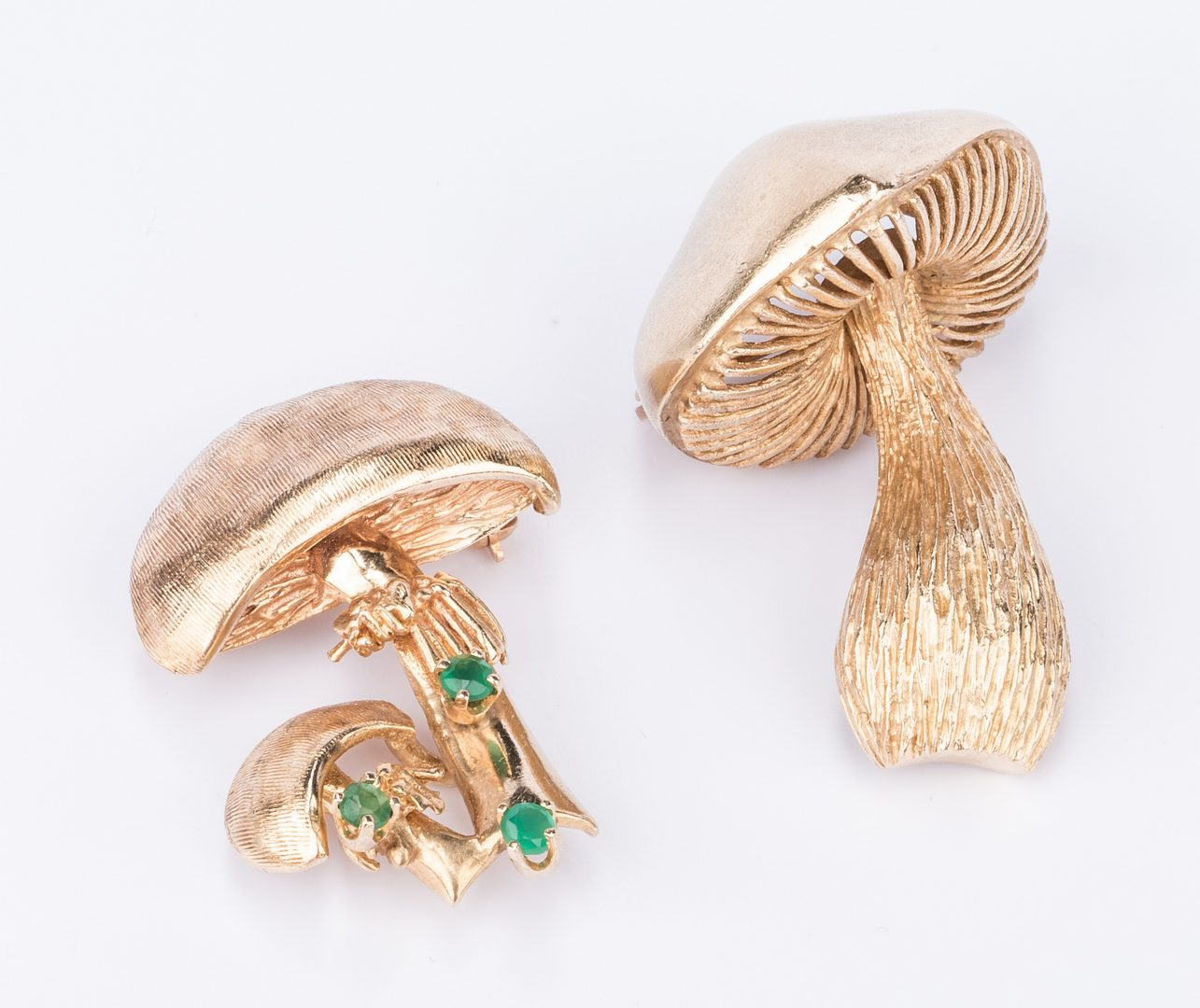 Lot 213: Four 14K Pins, inc. Mushrooms, 45.5 grams