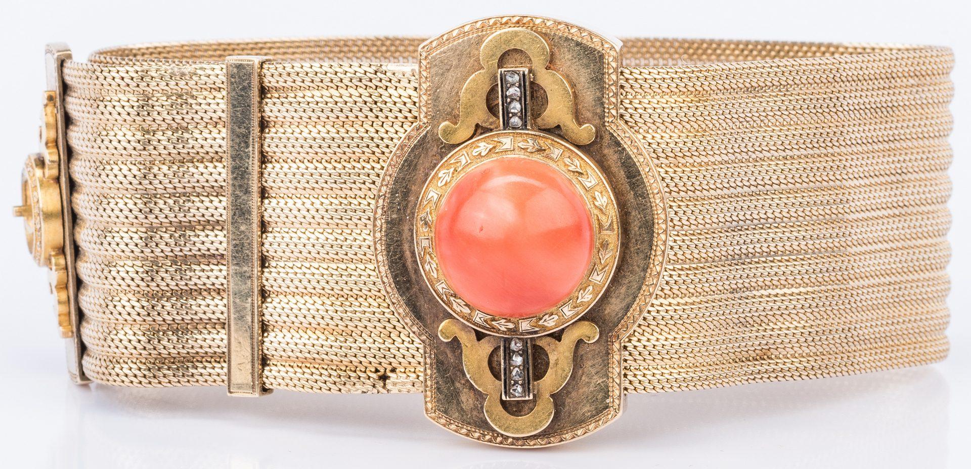 Lot 214: 3 14K Jewelry Items, inc. Slide Bracelet