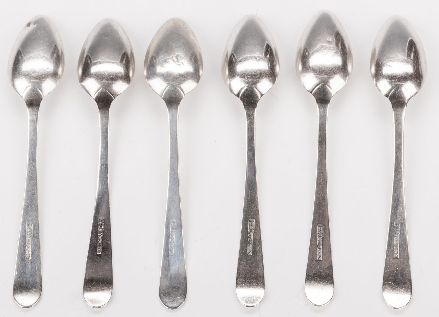 Lot 219: 6 Early KY Silver Spoons, Outten