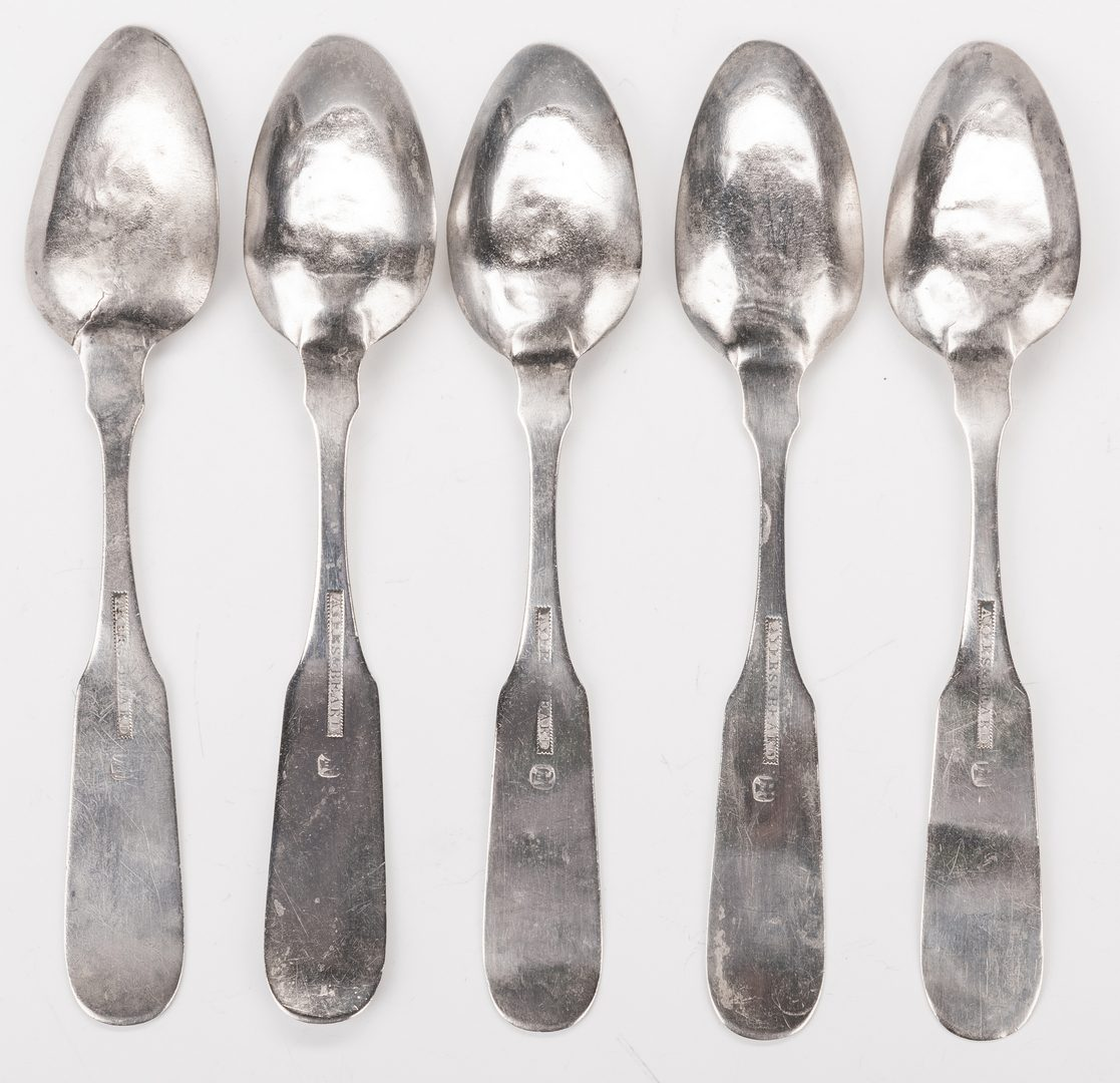 Lot 220: 5 KY Silver Sheaf of Wheat Spoons, Ayers & Beard