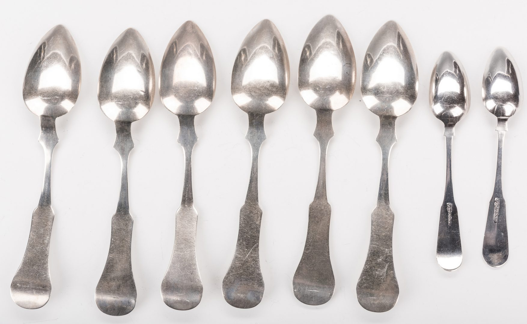 Lot 221: 8 Silver Spoons inc. KY, Broderson and Lenhart