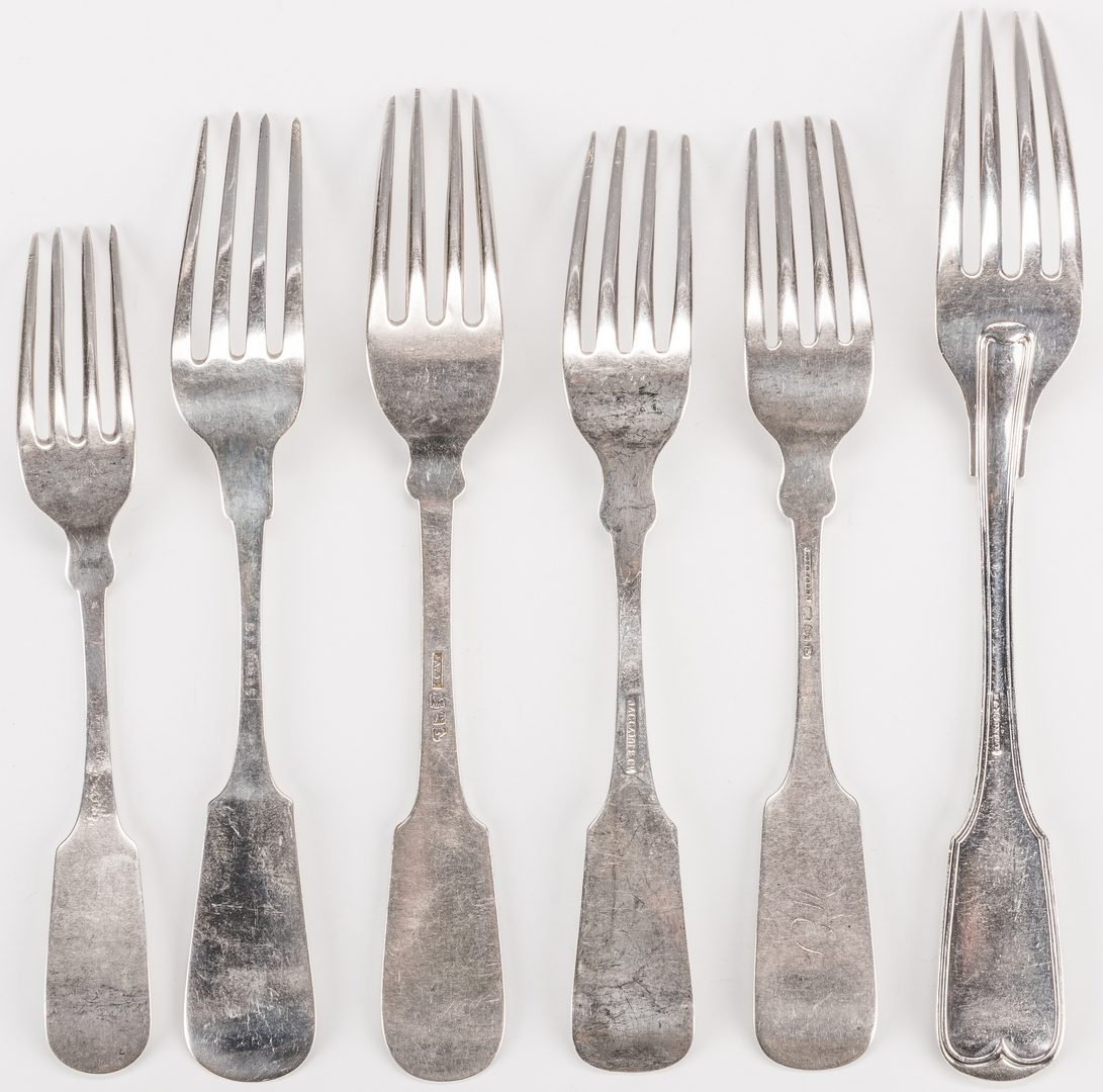 Lot 224: 17 Coin Silver Forks including Alabama