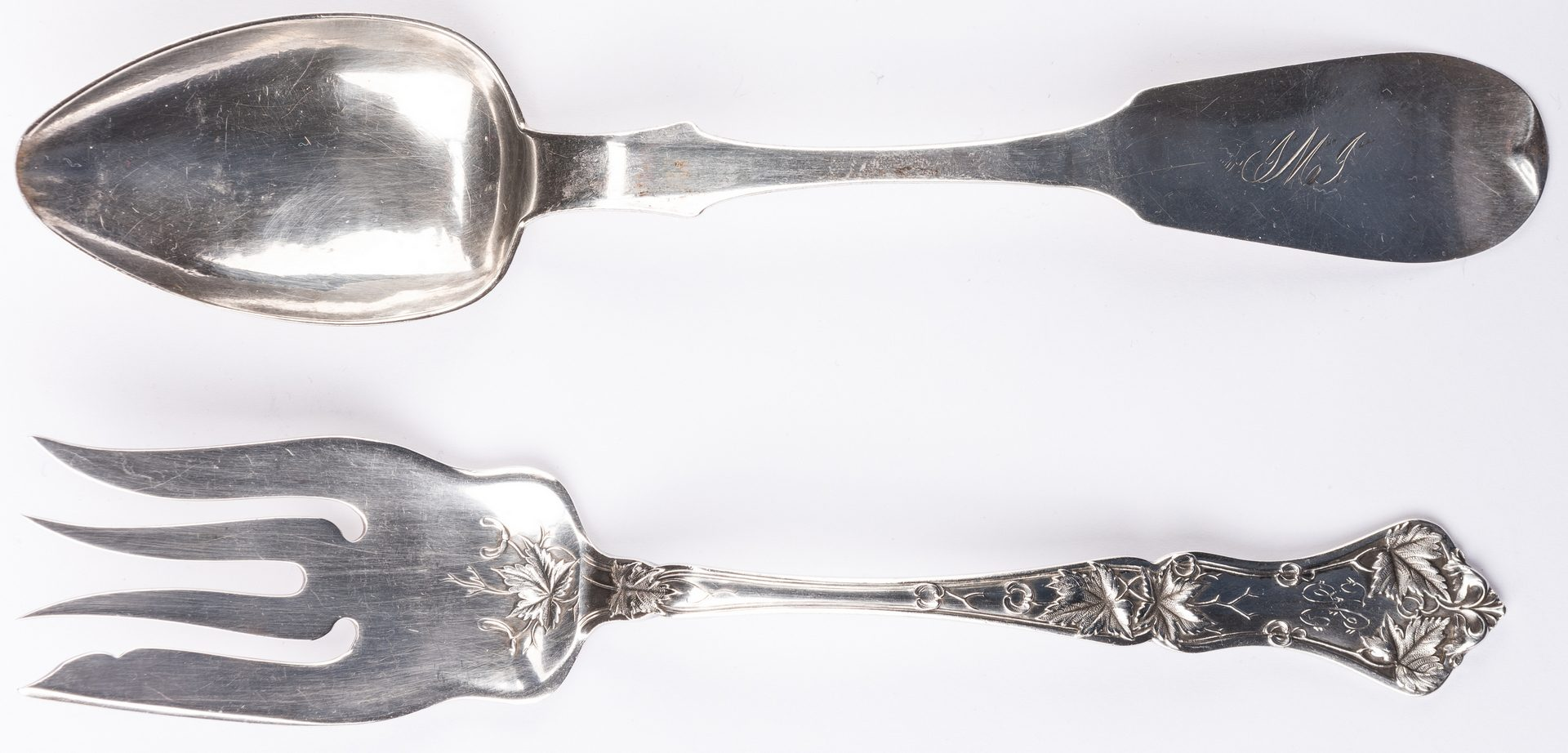 Lot 227: 23 pcs flatware inc. Nashville Coin Silver
