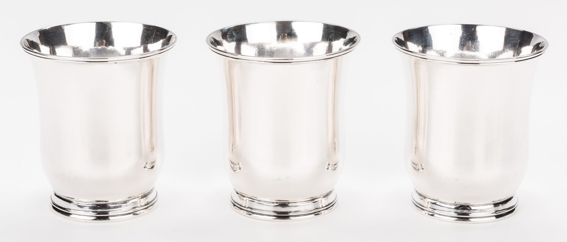 Lot 228: 3 NY Agricultural Coin Silver Beakers