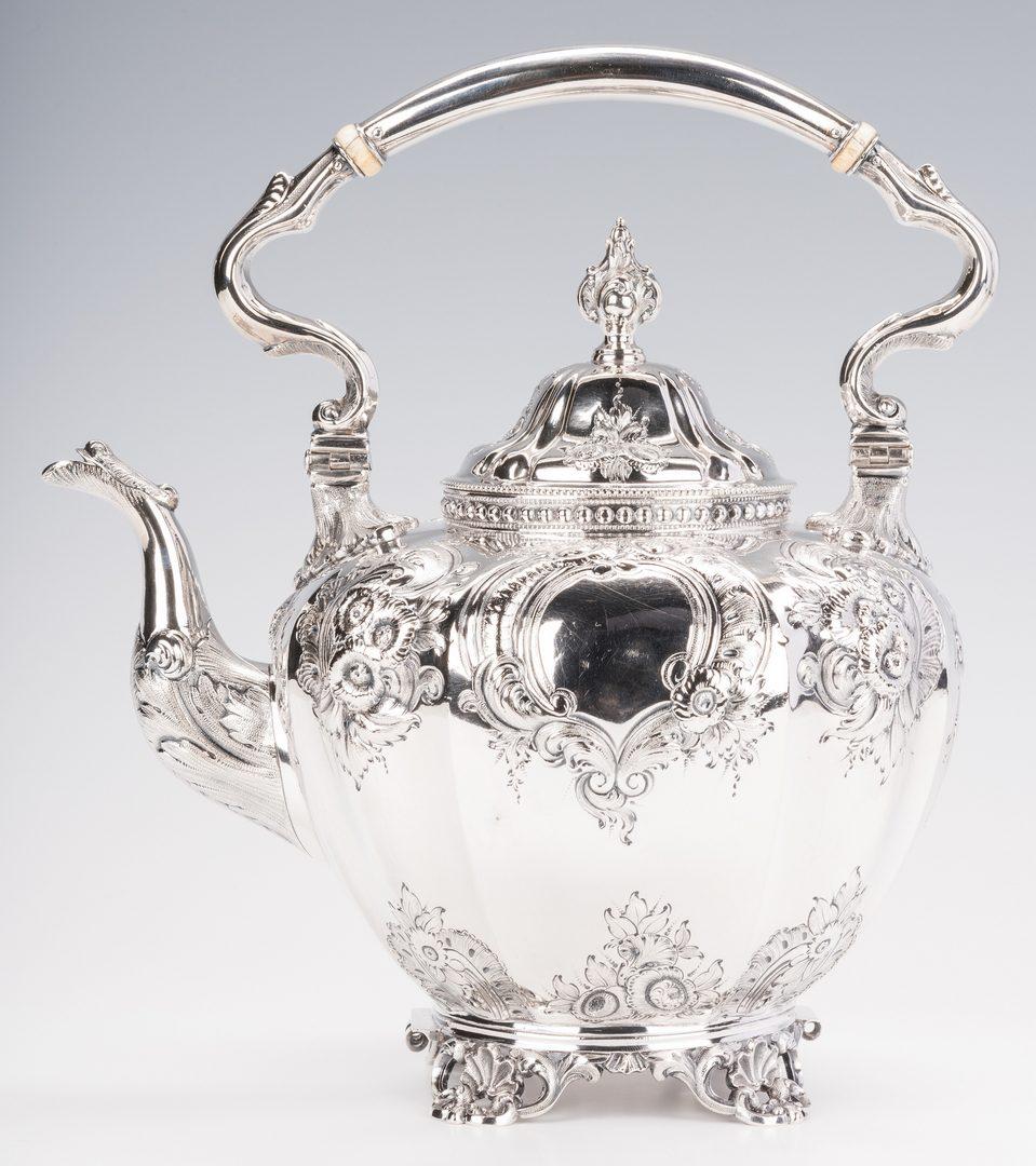 Lot 230: Beggs & Smith Coin Silver Teapot