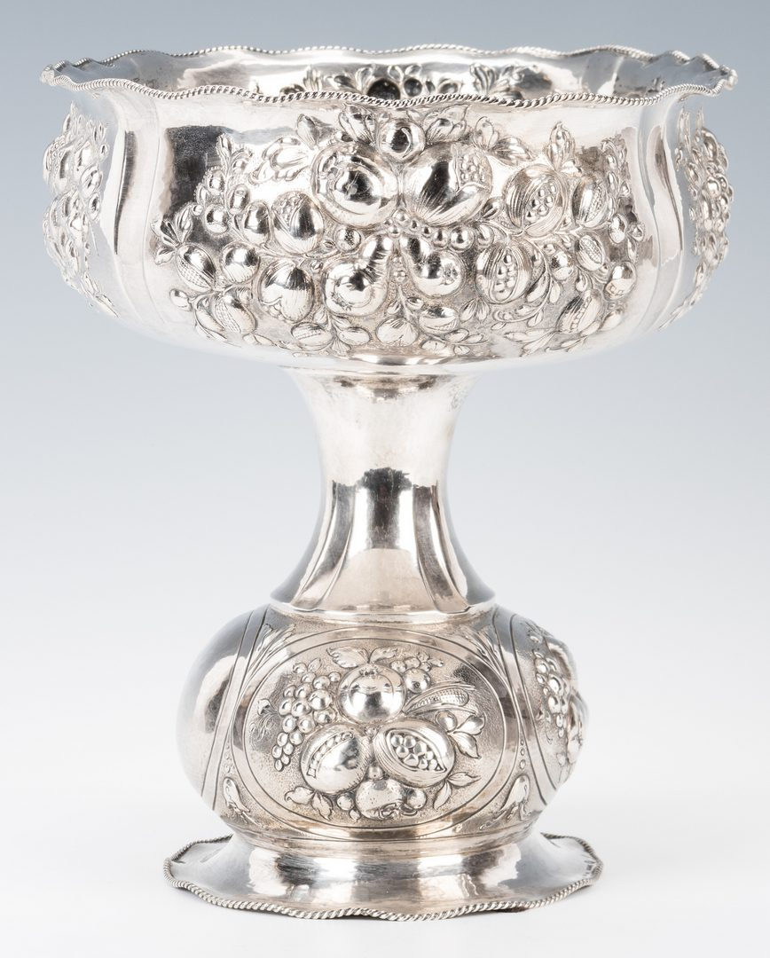 Lot 238: German .900 Silver Repousse Footed Bowl