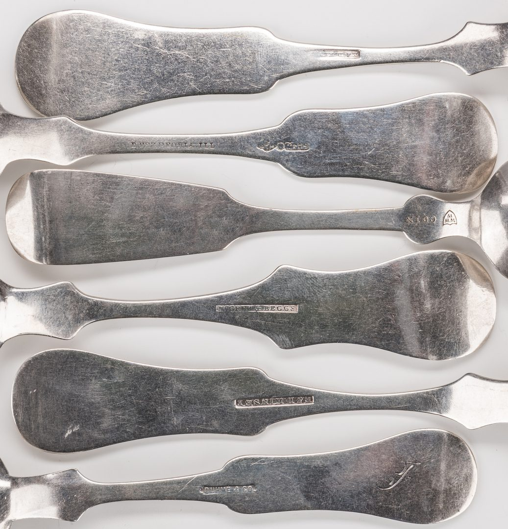 Lot 239: 28 Assd. Silver Spoons, inc. 25 coin & 3 sterling