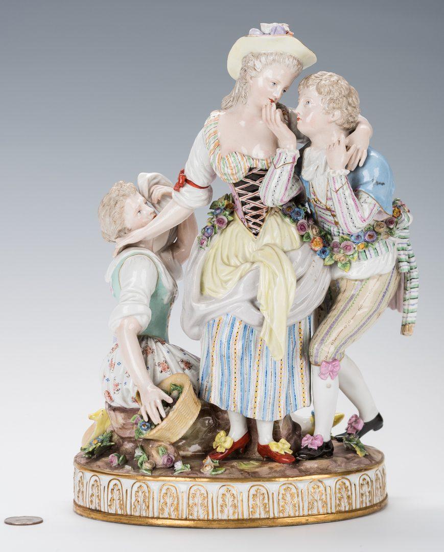 Lot 241: Meissen Porcelain Grouping, The Decisive Choice