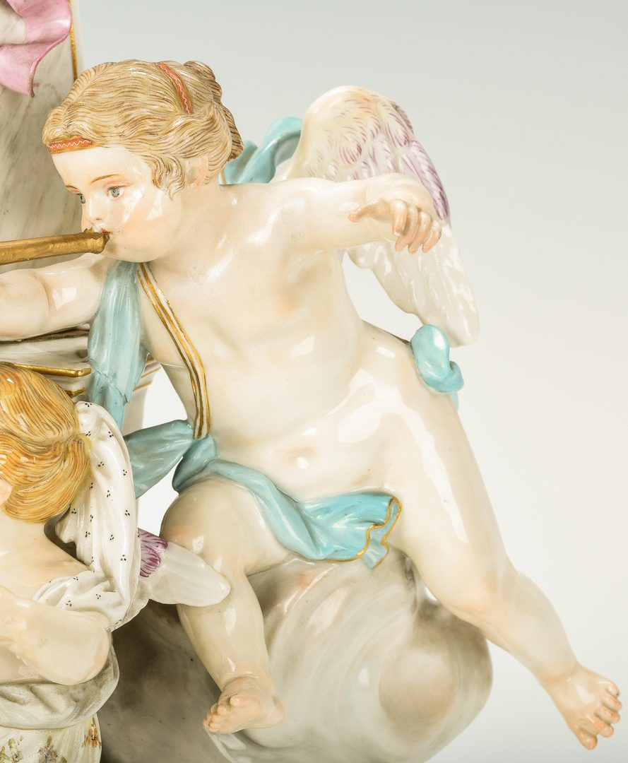 Lot 243: Meissen Porcelain Allegorical Figural Group