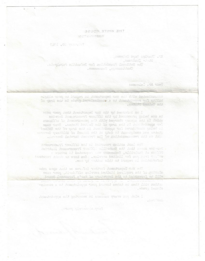 Lot 254: President Franklin D. Roosevelt Signed Letter