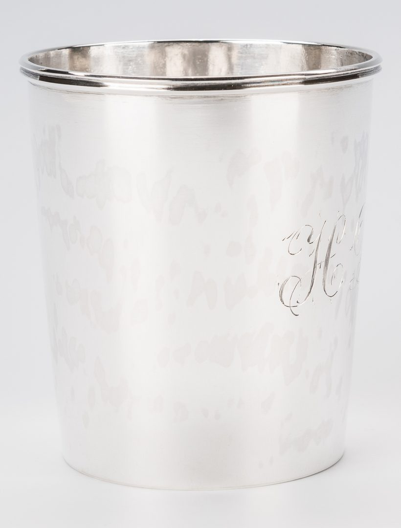 Lot 257: Joseph Loring Silver Cup, Dearborn Family History