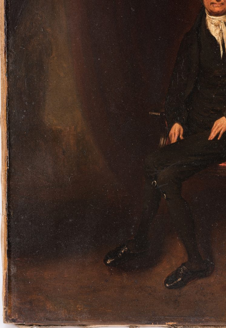 Lot 261: Oil portrait of Justice John Marshall, attr. Wm. Hubard