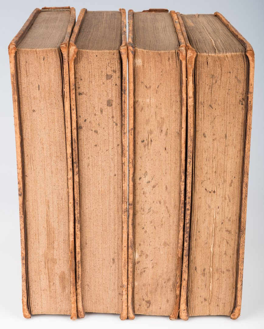 Lot 262: John Marshall Signed 4 Volume Book Set: Plutarch's Lives