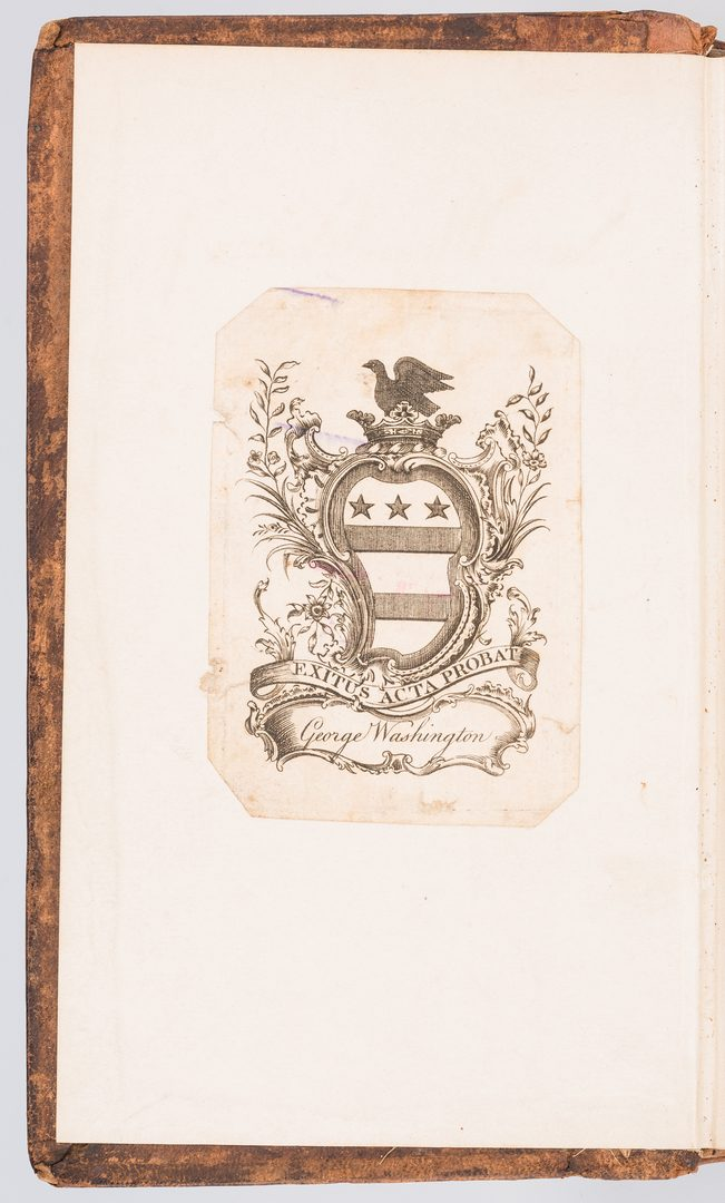 Lot 265: George Washington Signed Book w/ Bookplate