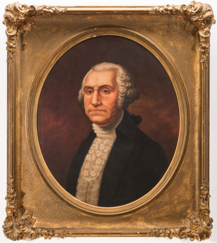 Lot 267: After Gilbert Stuart, portrait of George Washington