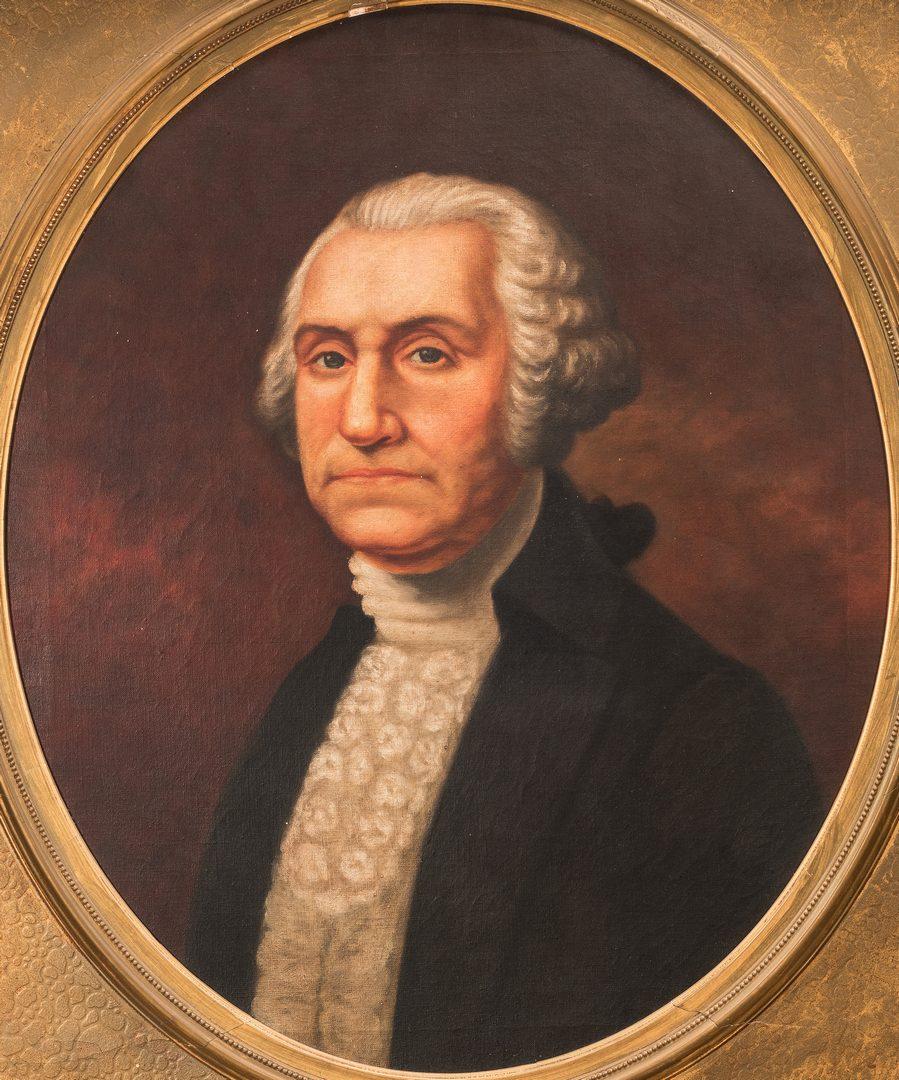 Lot 267: After Gilbert Stuart, portrait of George Washington
