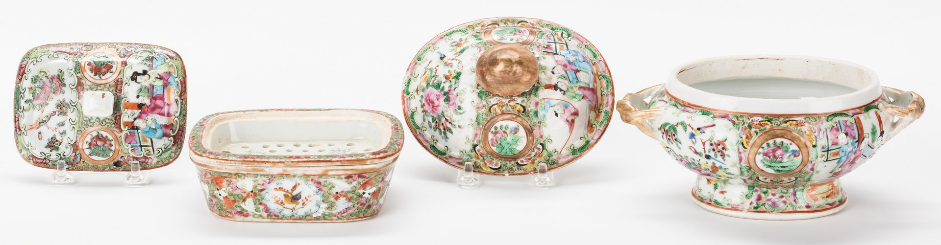 Lot 26: 5 Pcs. Chinese Rose Medallion Porcelain, incl. Pitcher