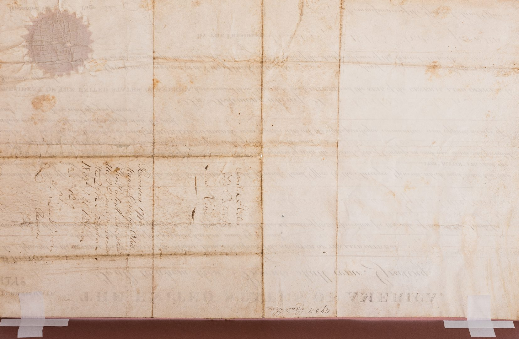 Lot 273: 2 Andrew Jackson Ohio Land Grants, 1 Signed